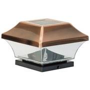Duracell Solar Pfostenlampe Gl067copdu - Silberfarben, MODERN, Kunststoff (14,1/9,5/14,1cm)