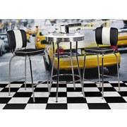 Bartisch Elivis B: 60 cm Weiß - Chromfarben/Weiß, MODERN, Holzwerkstoff/Metall (60/60/100cm) - MID.YOU