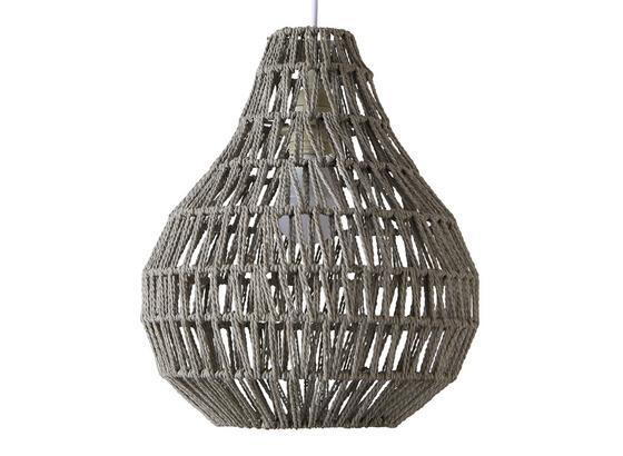 Závěsné Svítidlo Jade 30/147 Cm, 60 Watt - šedá, Romantický / Rustikální, přírodní materiály (30/147cm) - Mömax modern living