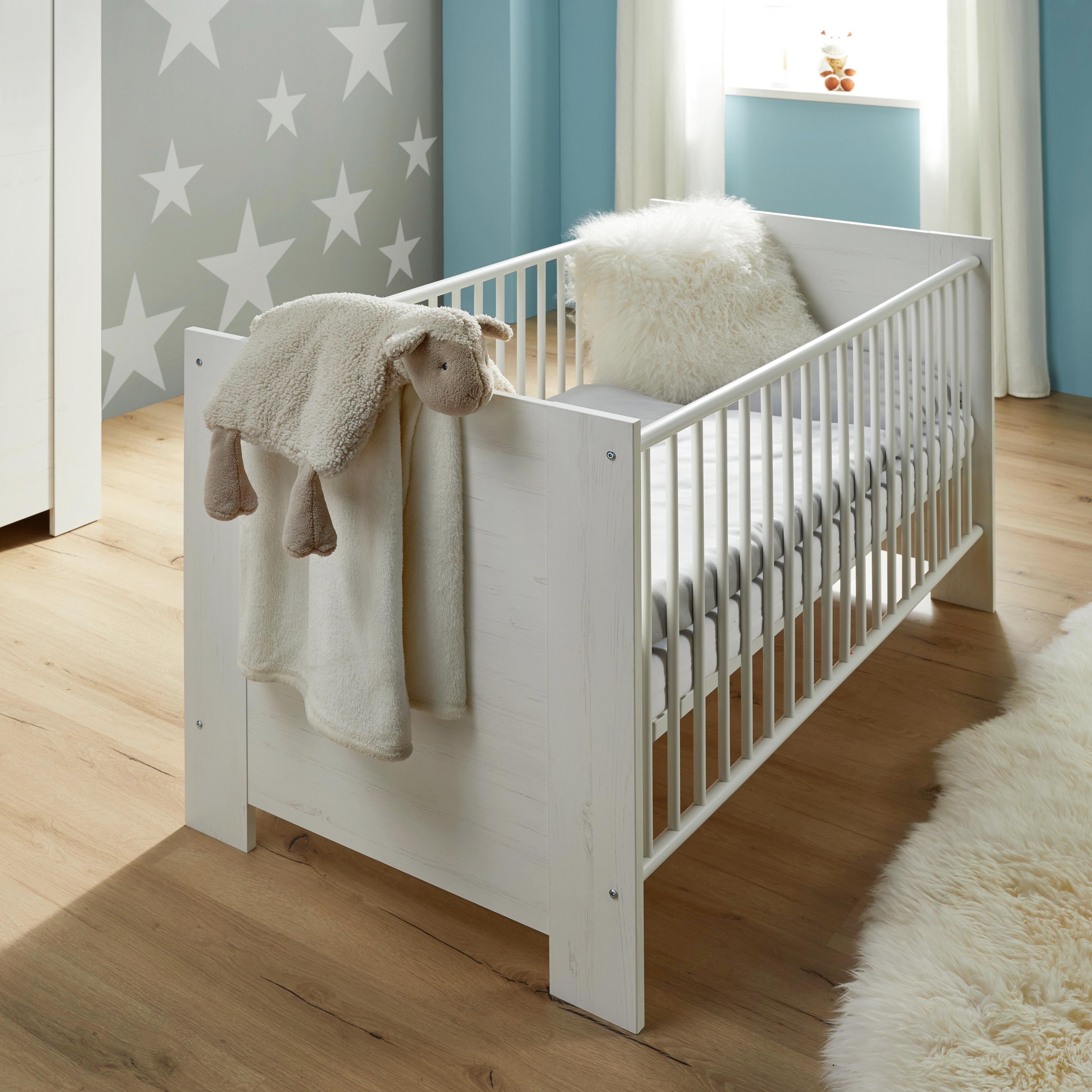 Pokoj Pro Miminka Miri - bílá, Moderní, dřevěný materiál