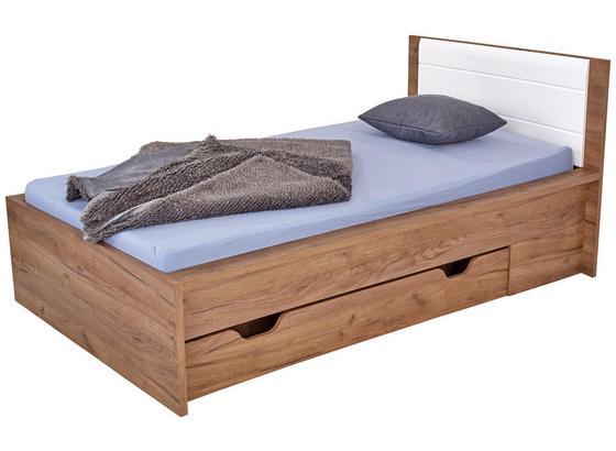 POSTEL AVENSIS NEW - bílá/barvy dubu, Konvenční, kompozitní dřevo (90/200cm) - Luca Bessoni