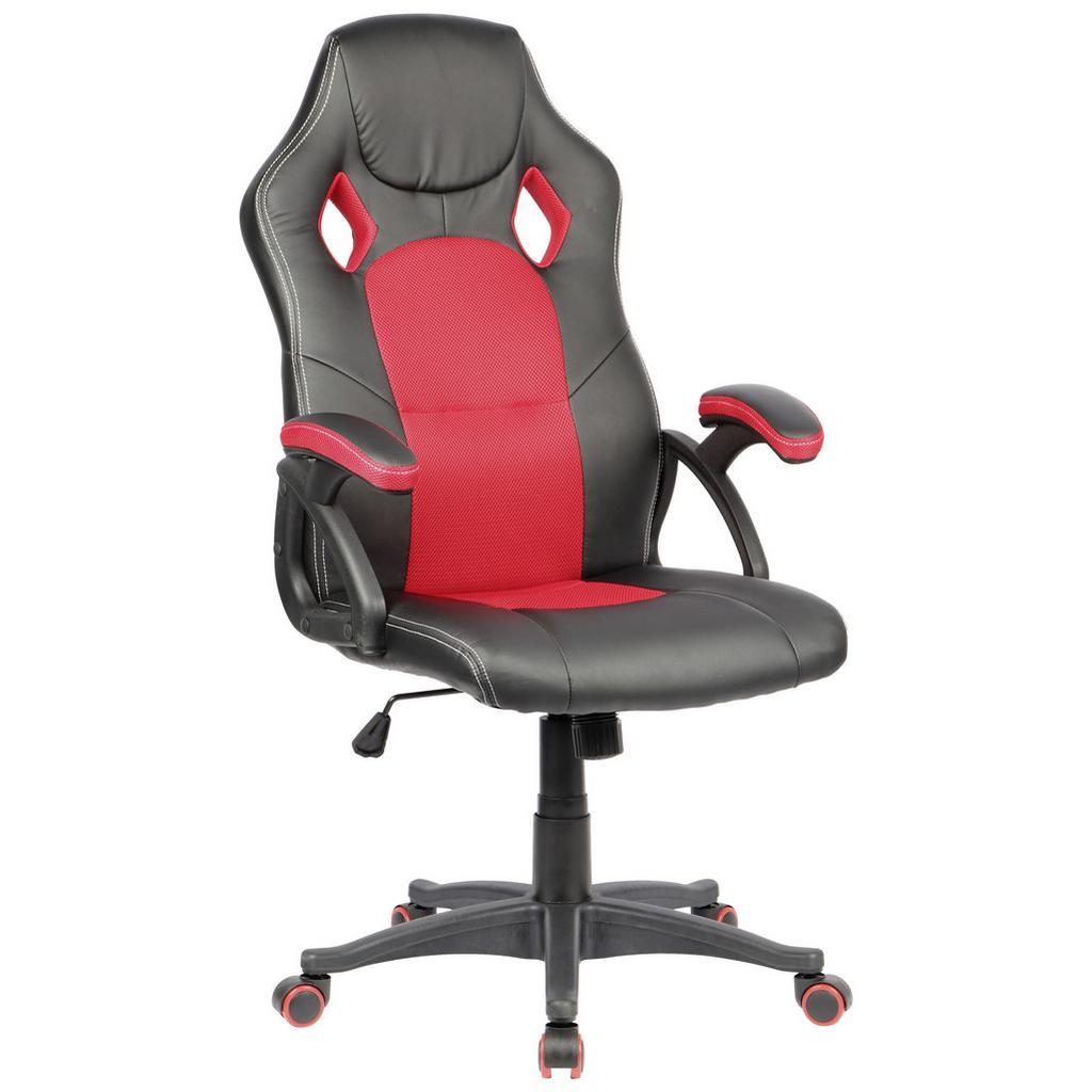 Otočná Židle Xanus Červeno-Černá