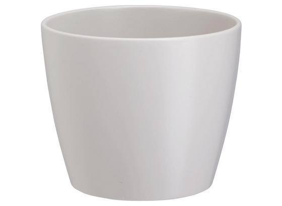 Obal Na Květináč Luisa - šedá/bílá, Moderní, keramika (12/10cm) - Based
