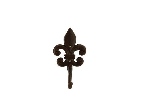 Háčik Fleur -sb- - tmavohnedá, kov (10,5/19/5cm) - Mömax modern living