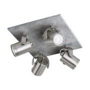 LED-Deckenleuchte Praceta - Grau, MODERN, Metall (24cm)