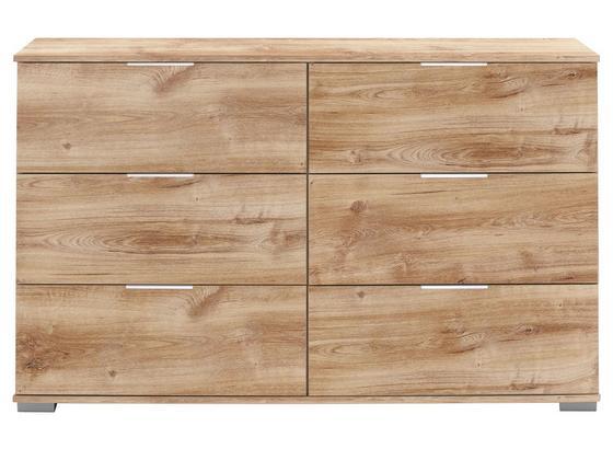 Komoda London - farby dubu, Moderný, kompozitné drevo (130/83/41cm)