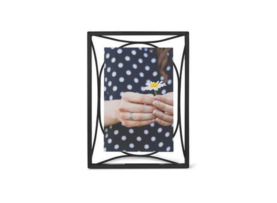 Rám Na Fotky Arca - čierna, kov/sklo (15,3/20,4/7cm) - Mömax modern living