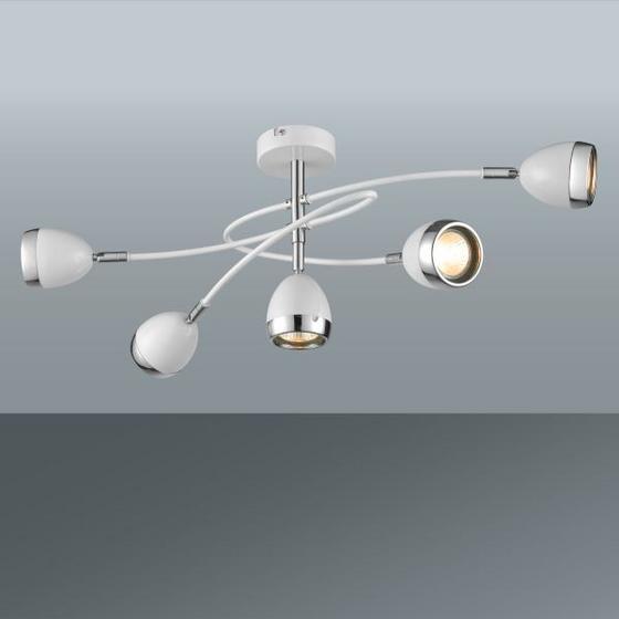 LED STROPNÁ LAMPA NANTES - biela/farby chrómu, Štýlový, umelá hmota/kov (65,5/26,5cm) - MÖMAX modern living