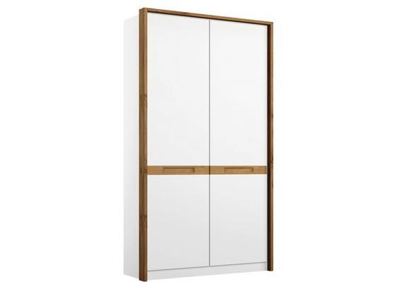 Drehtürenschrank Rangun B: 91 cm Weiß - Weiß, Basics, Holz/Holzwerkstoff (91/197/54cm)