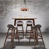 Barová Stolička Enzo - hnedá/sivá, Moderný, drevo/textil (47/88/51cm) - MÖMAX modern living