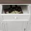 Kredenc Cookie - borovicová/biela, kov/drevo (132/191/40,5cm) - Premium Living