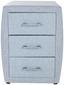 Nachtkästchen Allegra Passtelblau (USB) - Schwarz/Hellblau, KONVENTIONELL, Holzwerkstoff/Kunststoff (52/66/46cm)