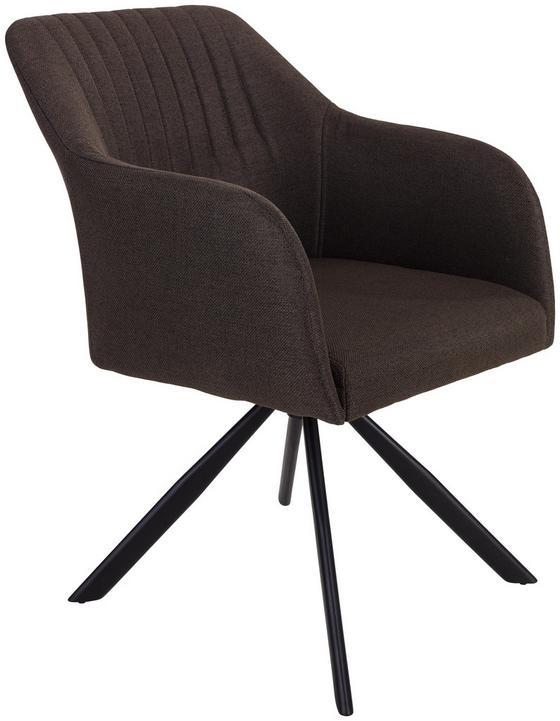 Stuhl Sevilla Grau - Schwarz/Grau, MODERN, Textil/Metall (55,5/82/63cm) - Ombra
