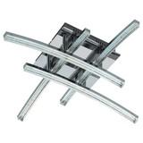LED-Deckenleuchte Pertini - Chromfarben/Transparent, MODERN, Kunststoff/Metall (45/45/12,5cm)
