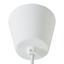 Závesná Lampa Begonia - biela, Štýlový, kov/plast (60/150cm) - Mömax modern living