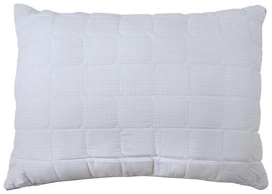 Mikrofaser Kopfpolster Permanent Antibakteriell - Weiß, KONVENTIONELL, Textil (70/90cm)