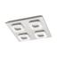 LED-Deckenleuchte Litago Crystal - Weiß/Nickelfarben, MODERN, Kunststoff/Metall (7,5/82cm)