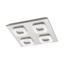 LED-Deckenleuchte Litago - Weiß/Nickelfarben, MODERN, Kunststoff/Metall (7,5/82cm)