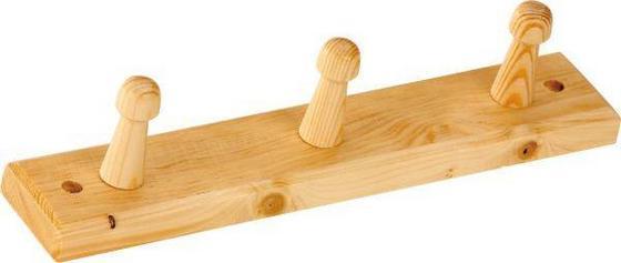 Lišta Na Háčiky Clip 3 - borovicová, Konvenčný, drevo (30/5,5cm)