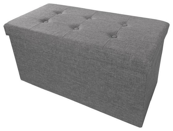 Ülőpad Franz 2 - szürke, modern, textil/fa (70/38/38cm)