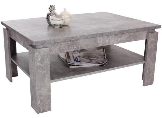 Konferenční Stolek Nizza 2 - světle šedá, Moderní, kompozitní dřevo (100/45/60cm)