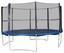 Trampolin mit Sicherheitsnetz - Blau/Schwarz, Metall (304/248cm)