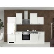 Küchenblock Wito 280cm Weiß - Edelstahlfarben/Weiß, MODERN, Holzwerkstoff (280cm) - MID.YOU