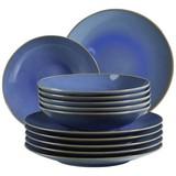 Tafelservice Ossia 12-Tlg - Hellblau, Basics, Keramik (32/32/30cm)