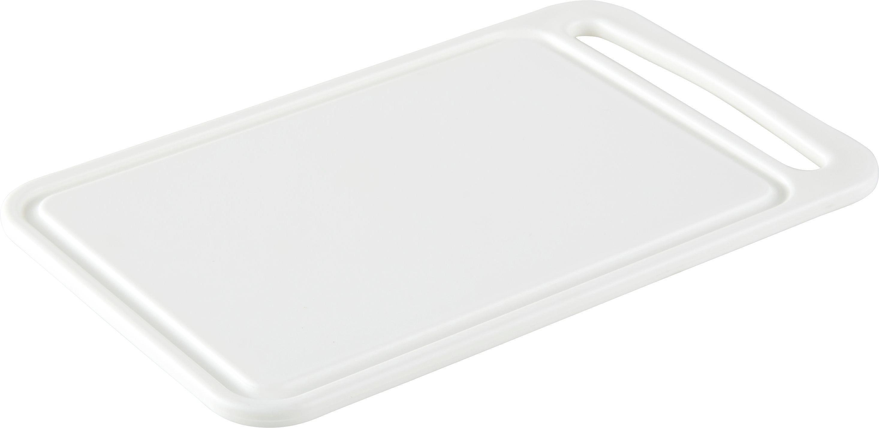 Vágódeszka Műanyag - fehér, konvencionális, műanyag (24/8/15cm)