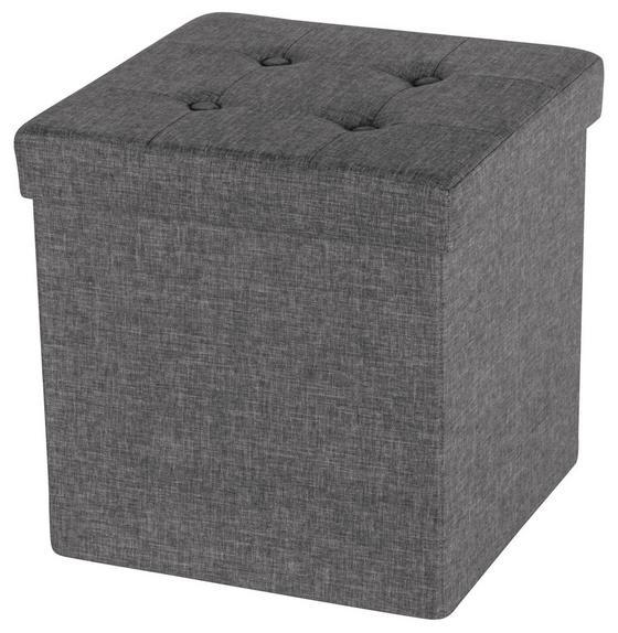 Hocker Franz - Grau, MODERN, Holzwerkstoff/Textil (38/38/38cm)