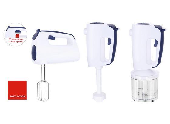 Handmixer Emerio Hms-113257.2 - Blau/Weiß, MODERN, Kunststoff