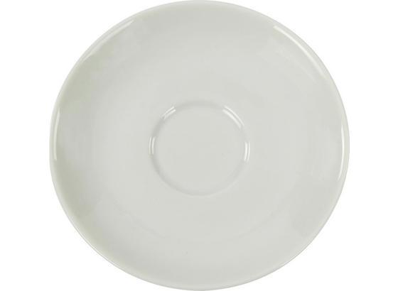 Untertasse Felicia - Weiß, KONVENTIONELL, Keramik (11,9/1,6cm) - Ombra