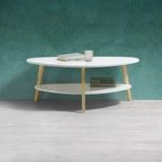 Konferenční Stolek Enno - bílá/přírodní barvy, Moderní, dřevo/dřevěný materiál (92/37/50cm) - MODERN LIVING
