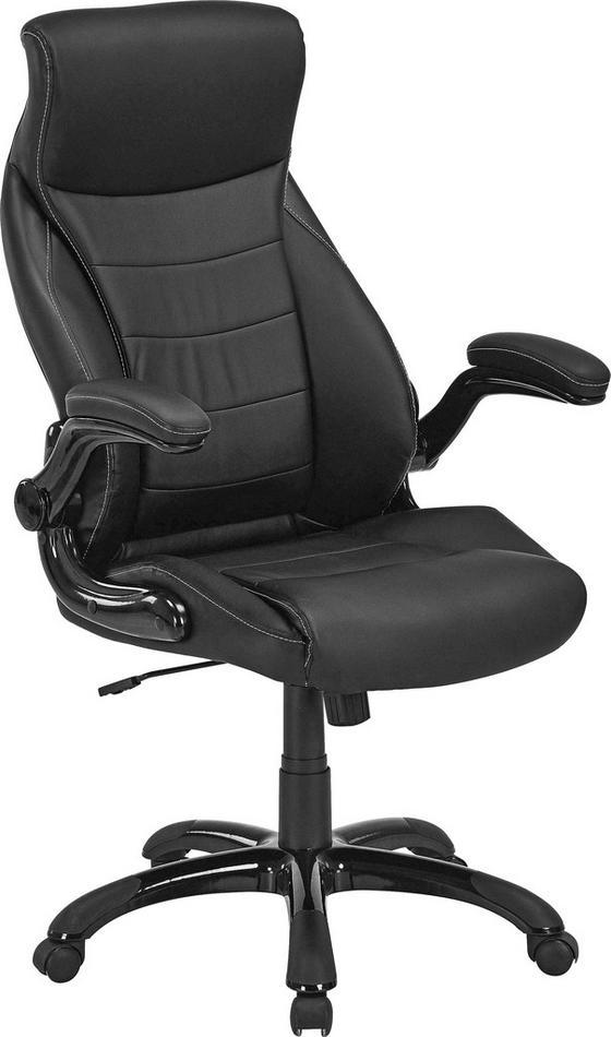Kancelářské Křeslo Orlando - černá, Moderní, kov/textil (71/114-124/72cm)