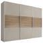 Schwebetürenschrank Includo B:280cm Sand/puccini Dekor - Sandfarben/Eichefarben, MODERN, Holzwerkstoff (280/222/68cm)