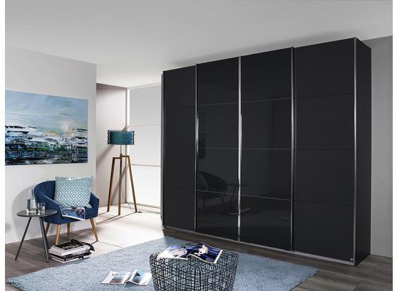 Skriňa S Posuvnými Dverami Bensheim 361x230cm - sivá/grafitová, Moderný, kompozitné drevo (361/230/62cm) - James Wood