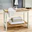 Regál Do Kúpeľne Jule - biela/farby buku, Moderný, drevo (60/45/33cm) - Modern Living