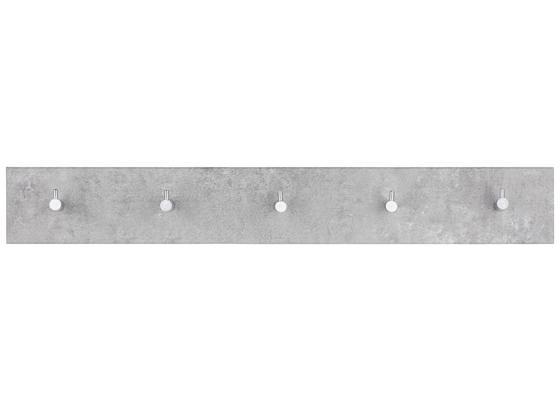 Lišta Na Háčiky Eddy 5 -sb- - sivá, Moderný, kompozitné drevo (57/8/5cm)