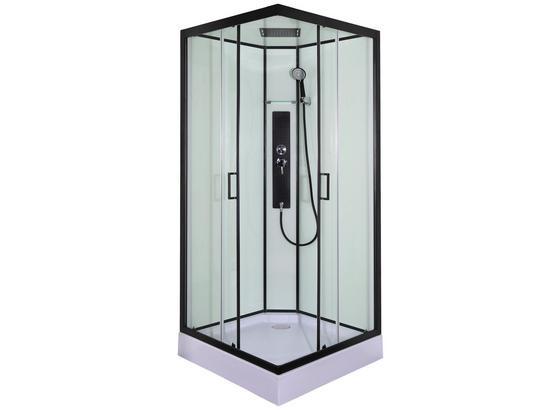 Duschkabine Komplettdusche Sky 2 - Transparent/Schwarz, MODERN, Glas (90/90/225cm) - Sanotechnik