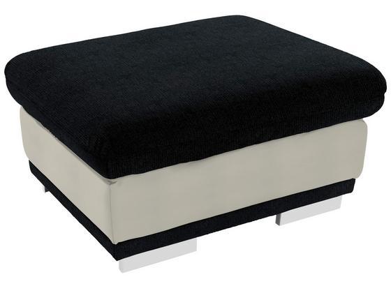 Taburet Seaside - čierna/biela, Konvenčný, textil (97/47/67cm) - Luca Bessoni