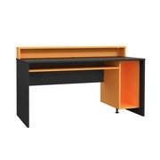 Gaming Tisch Tezaur B: 160 cm - Schwarz/Orange, Basics, Holzwerkstoff/Kunststoff (160/93.8/69cm) - MID.YOU