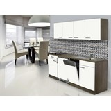 Küchenblock Economy 195 cm Weiß - Eichefarben/Weiß, KONVENTIONELL, Holzwerkstoff (195/200/55cm) - MID.YOU