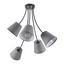 Stropní Svítidlo Elanie 68/66 Cm, 60 Watt - šedá, Lifestyle, textil (68/66cm) - Premium Living