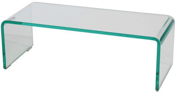 Tv-rátét Hagen - Átlátszó, modern, Üveg (60/20/25cm)