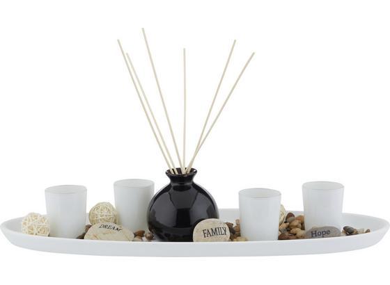 Miska Na Čajové Sviečky Evelin - prírodné farby/čierna, Štýlový, drevo/kompozitné drevo (51,5/11/18,2cm) - Mömax modern living