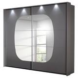 Schwebetürenschrank Atlanta B: 233 cm Grau - Hellgrau/Grau, MODERN, Glas/Holzwerkstoff (233/214/62cm) - Carryhome