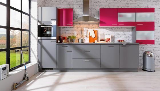 Kuchynská Linka Win - sivá/ružová, kompozitné drevo (380cm) - Express