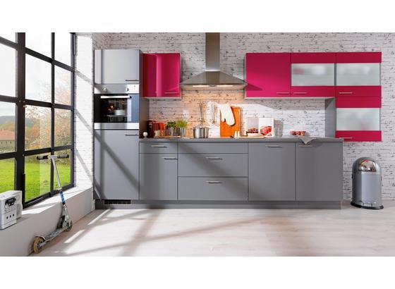 Kuchyňský Blok Win - šedá/růžová, kompozitní dřevo (380cm) - Express