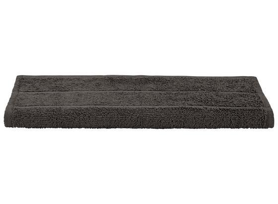 Gästetuch Liliane - Dunkelgrau, KONVENTIONELL, Textil (30/50cm) - Ombra