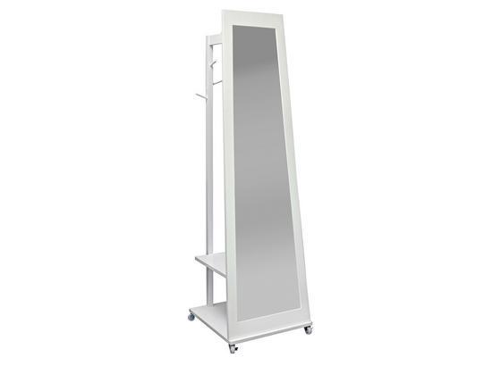 Stojacie Zrkadlo Sabine - biela, Moderný, kompozitné drevo/sklo (30/50/170/50cm)